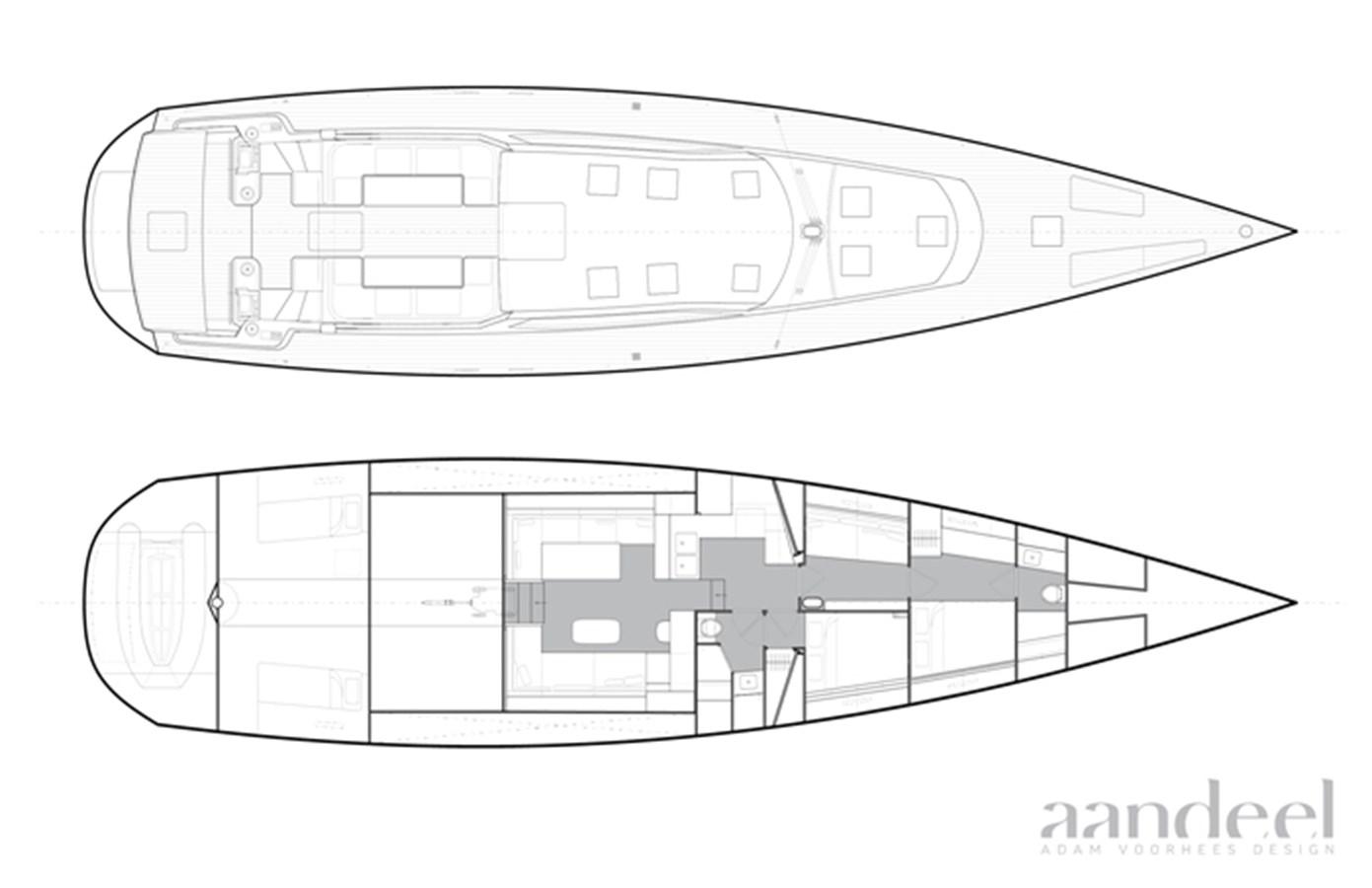 LAYOUT 1996 GOETZ CUSTOM BOATS/DERECKTOR SHIPYARDS Sparkman & Stephens Designed Performance Sailing Yacht Cruising Sailboat 2743884