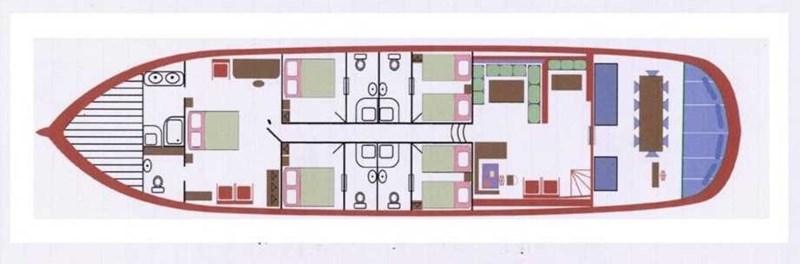 GA plan 1997 CUSTOM BUILT  Commercial Vessel 2585736