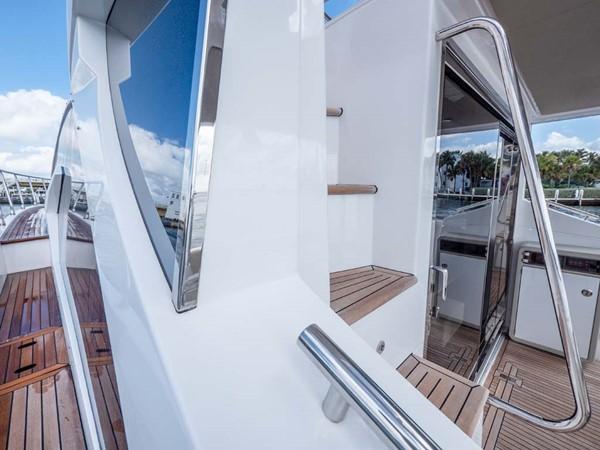 Starboard Side Deck Looking Forward 2016 AZIMUT 50 Flybridge Cruiser 2687564