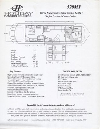 2008 HOLIDAY MANSION Cruiser Houseboat 2591516