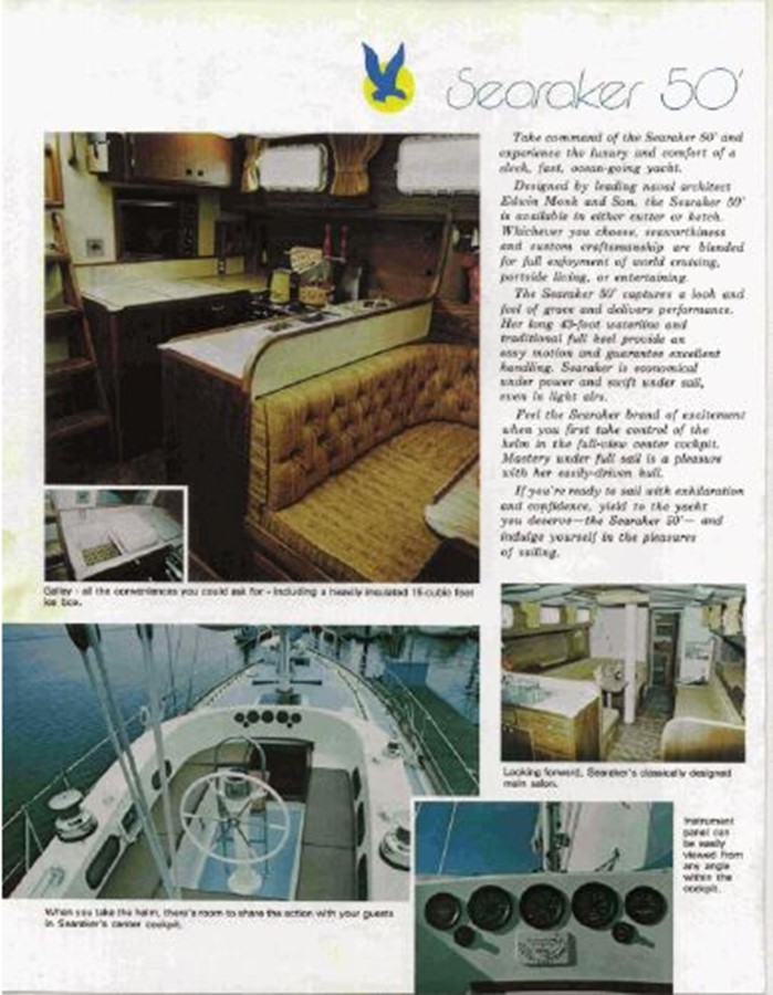 1977 CUSTOM  Ed Monk Searaker Motorsailor 2592917