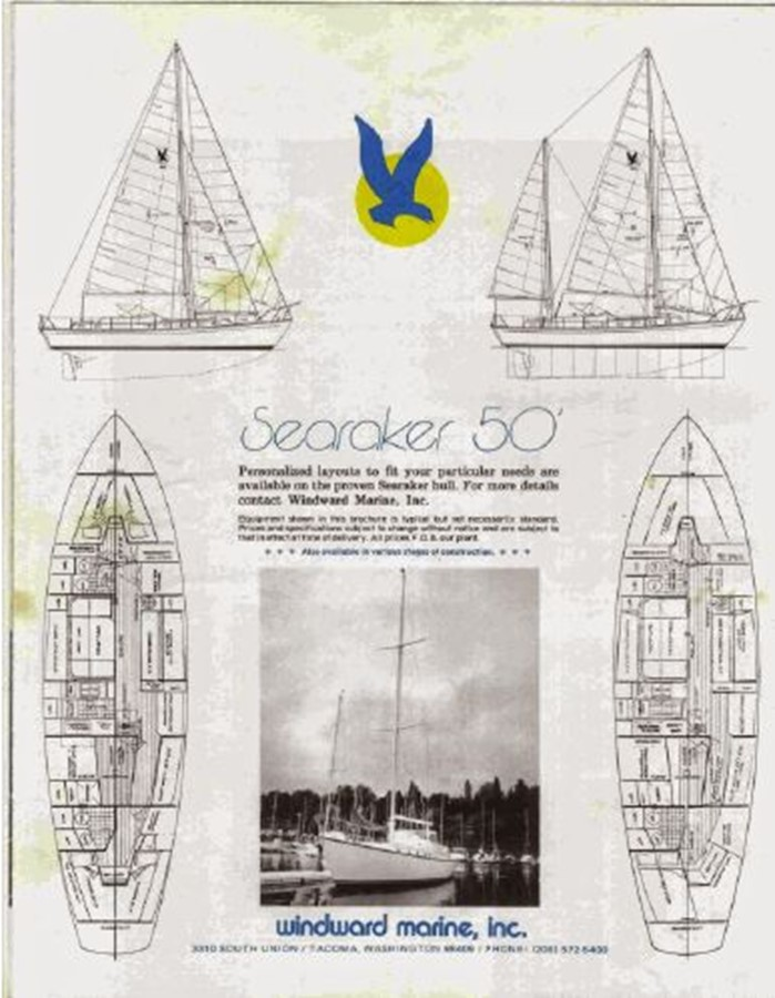 1977 CUSTOM  Ed Monk Searaker Motorsailor 2592920