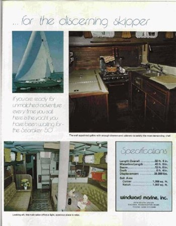 1977 CUSTOM  Ed Monk Searaker Motorsailor 2592919