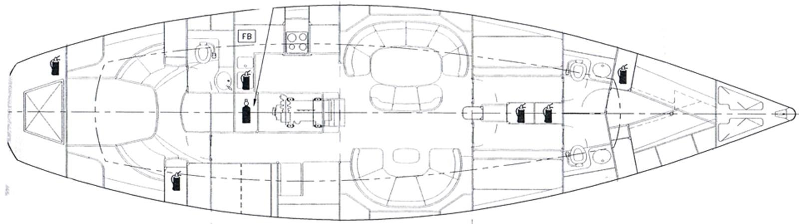 german-frers-60-layout-1 2000 SOUTHAMPTON YACHT SERVICES German Frers 60 Cruising Sailboat 2695495