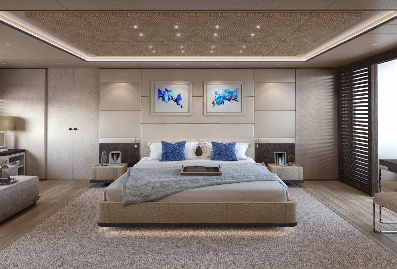 Master Stateroom - Contemporary Interior 2022 BENETTI Steel and Aluminum M/Y Motor Yacht 2604726