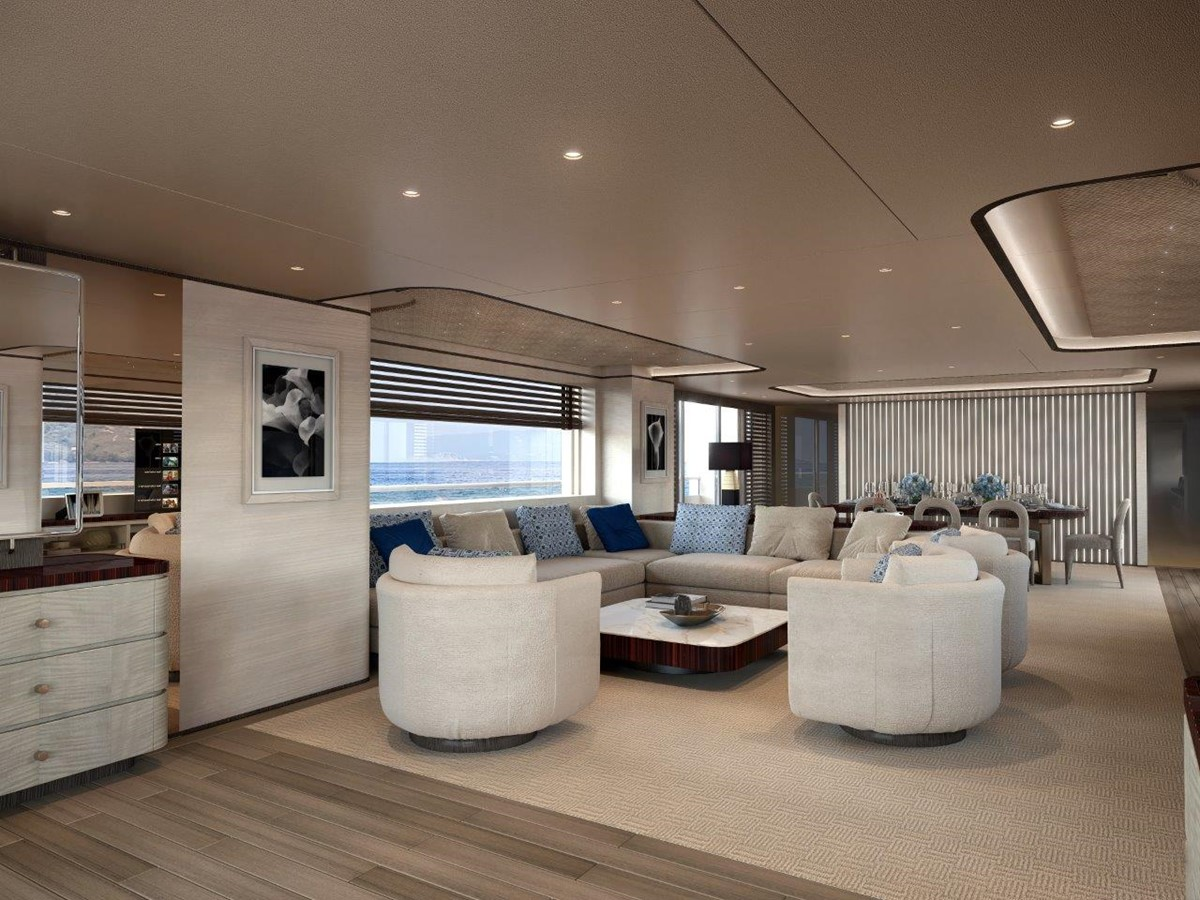 Main Salon - Contemporary Interior 2022 BENETTI Steel and Aluminum M/Y Motor Yacht 2604729