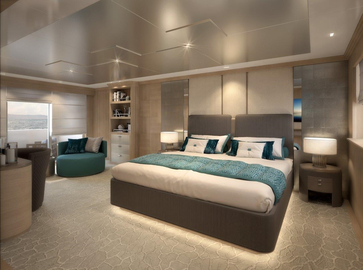 Master Stateroom - Classic Interior 2022 BENETTI Steel and Aluminum M/Y Motor Yacht 2604731