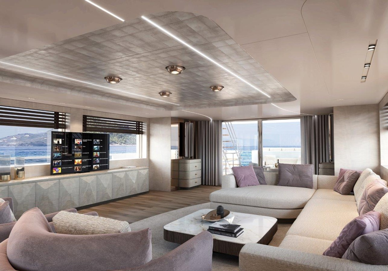 Main Salon - Modern Interior 2022 BENETTI Steel and Aluminum M/Y Motor Yacht 2604734