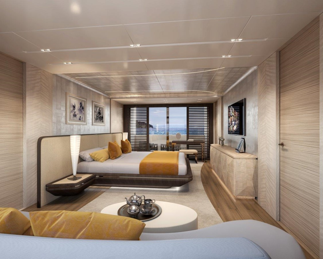 Master Stateroom - Modern Interior 2022 BENETTI Steel and Aluminum M/Y Motor Yacht 2604737