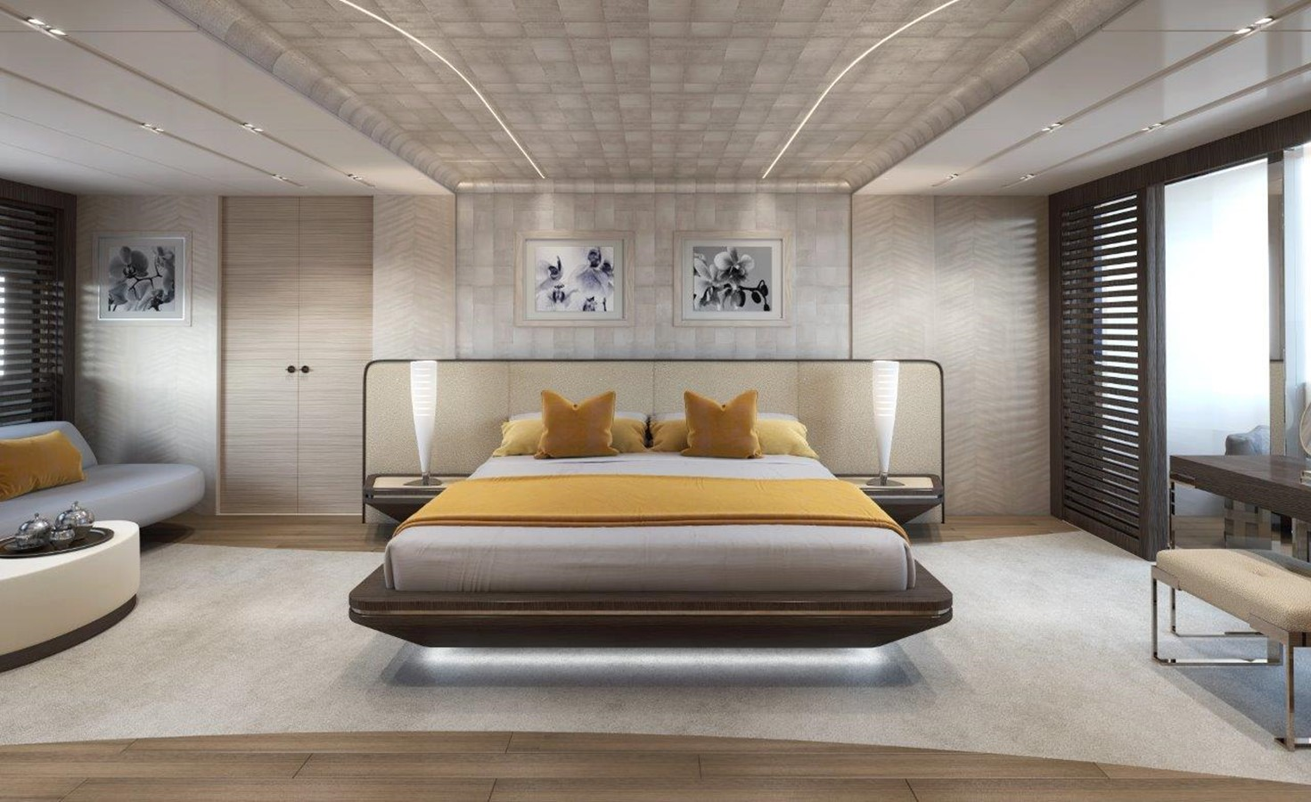Master Stateroom - Modern Interior 2022 BENETTI Steel and Aluminum M/Y Motor Yacht 2604738