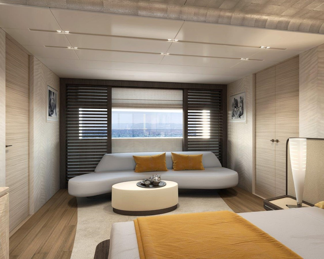 Master Stateroom - Modern Interior 2022 BENETTI Steel and Aluminum M/Y Motor Yacht 2604739