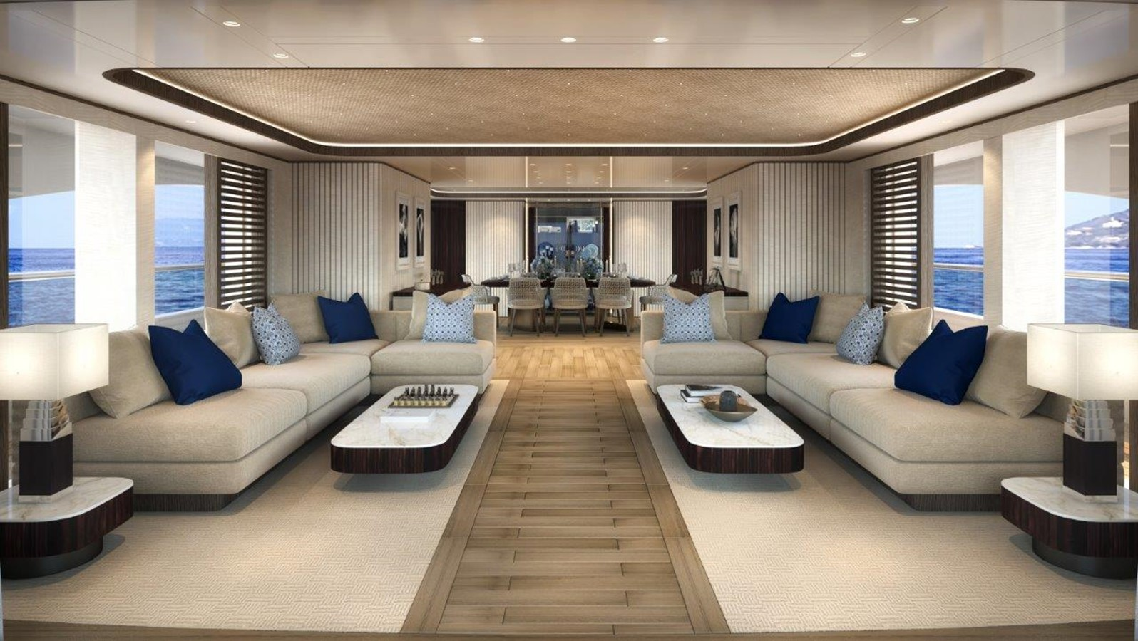 Main Salon - Contemporary Interior 2022 BENETTI Steel and Aluminum M/Y Motor Yacht 2617390