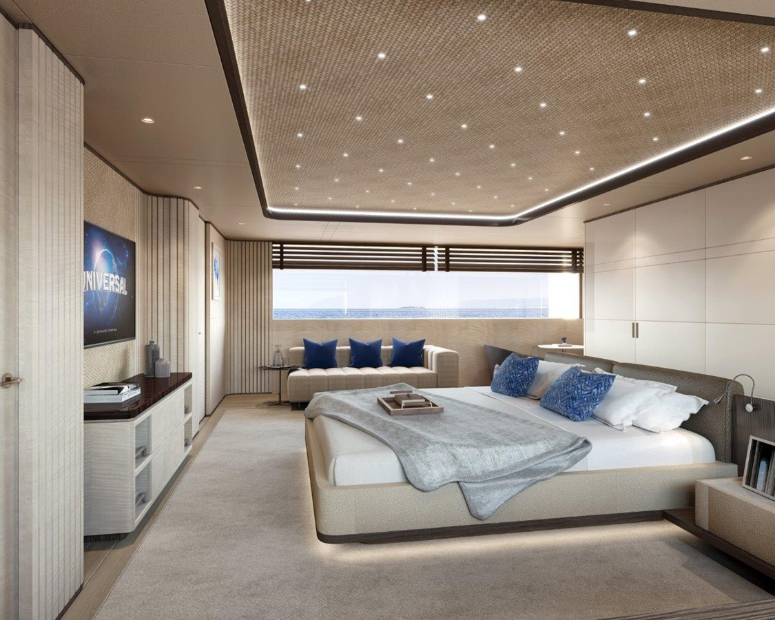 Master Stateroom - Contemporary Interior 2022 BENETTI Steel and Aluminum M/Y Motor Yacht 2617392