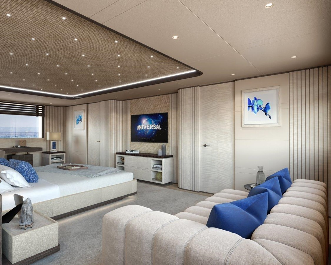 Master Stateroom - Contemporary Interior 2022 BENETTI Steel and Aluminum M/Y Motor Yacht 2617393