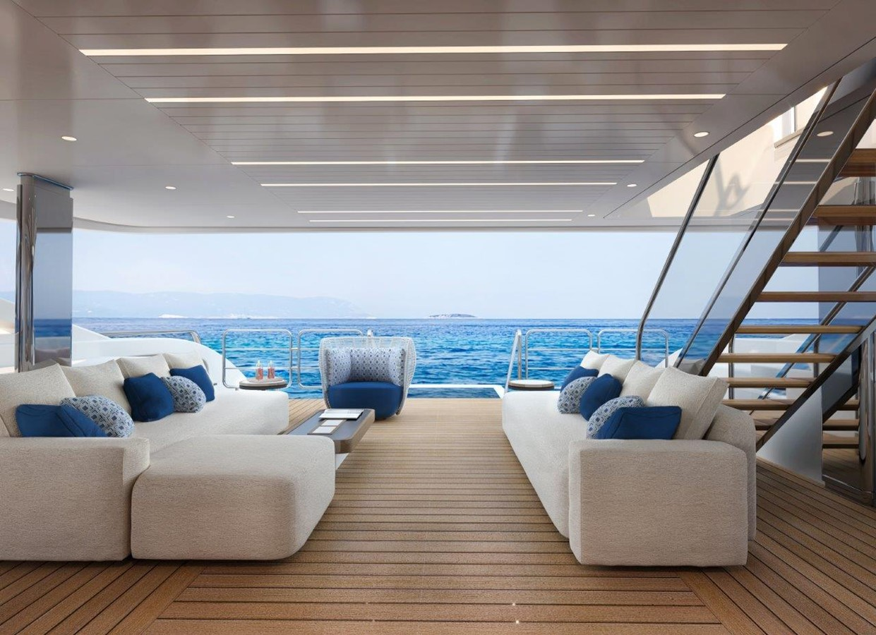 Main Deck Aft - Contemporary Interior 2022 BENETTI Steel and Aluminum M/Y Motor Yacht 2617397