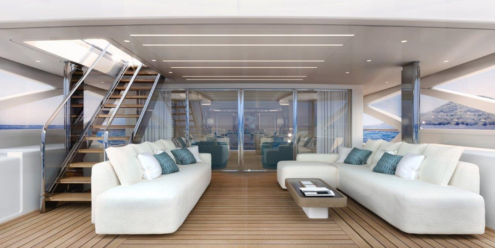 Main Deck Aft - Classic Interior 2022 BENETTI Steel and Aluminum M/Y Motor Yacht 2617403