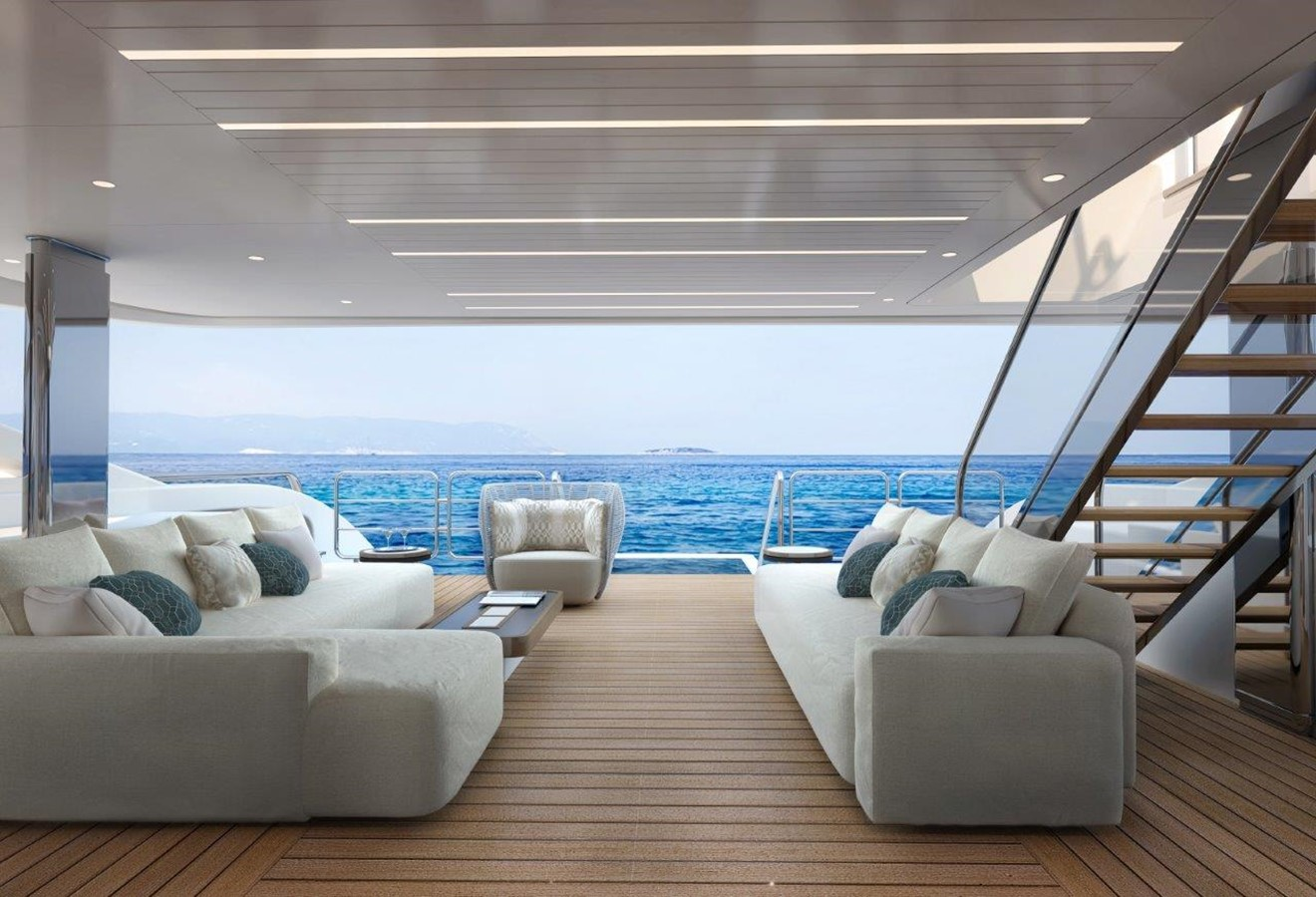 Main Deck Aft - Classic Interior 2022 BENETTI Steel and Aluminum M/Y Motor Yacht 2617404