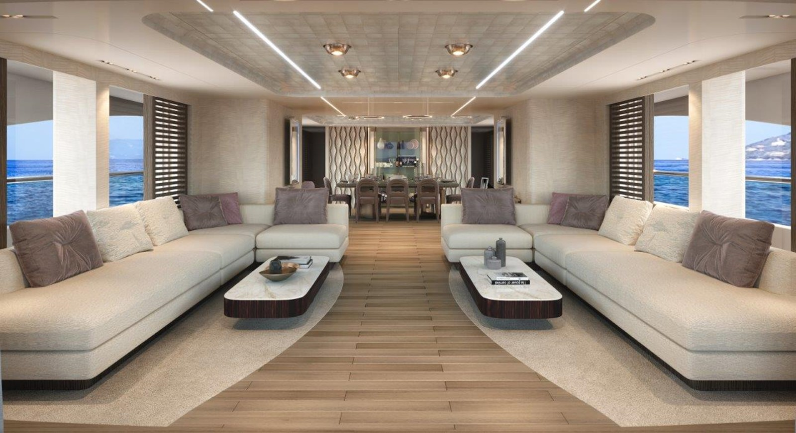 Main Salon - Modern Interior 2022 BENETTI Steel and Aluminum M/Y Motor Yacht 2617405