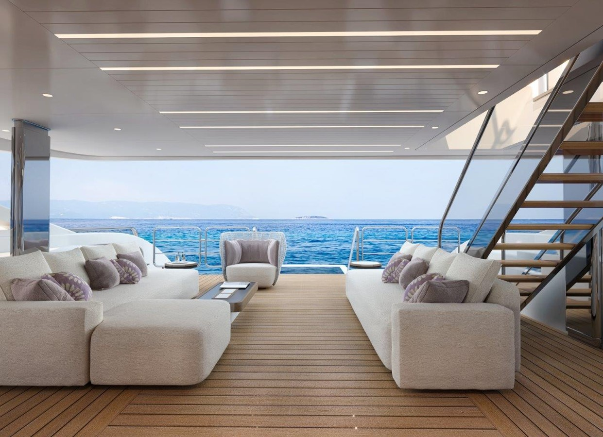 Main Deck Aft - Modern Interior 2022 BENETTI Steel and Aluminum M/Y Motor Yacht 2617408