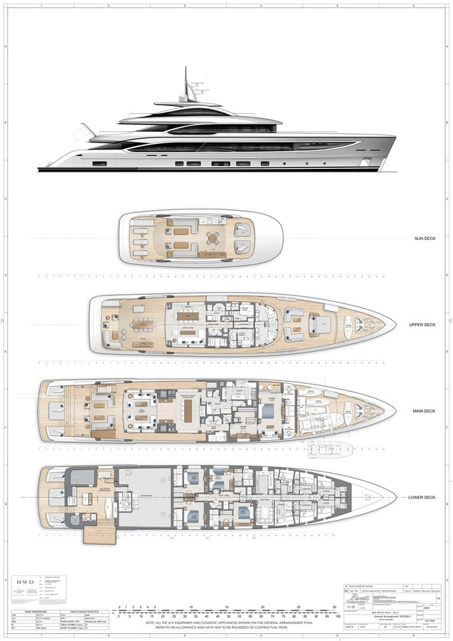 General Arrangement - Standard 2022 BENETTI Steel and Aluminum M/Y Motor Yacht 2738307