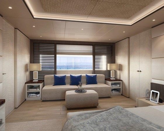 Master Stateroom - Contemporary Interior 2021 BENETTI Steel and Aluminum M/Y Motor Yacht 2604727