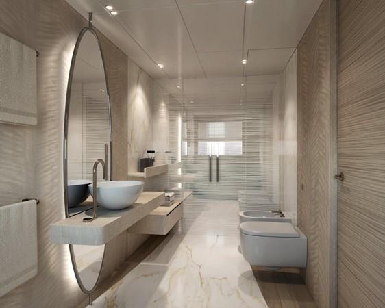 Master Bath - Modern Interior 2021 BENETTI Steel and Aluminum M/Y Motor Yacht 2604736