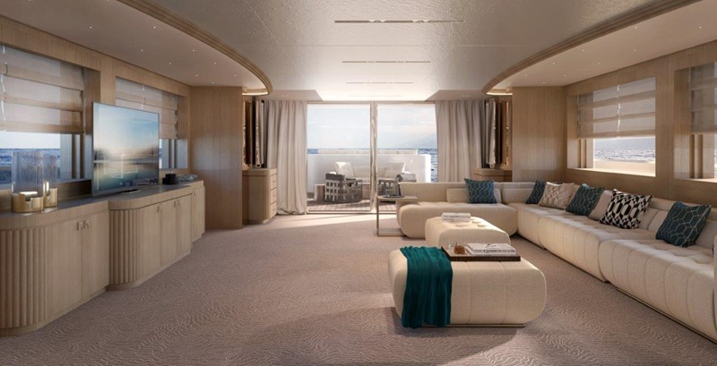Main Salon - Classic Interior 2021 BENETTI Steel and Aluminum M/Y Motor Yacht 2604740
