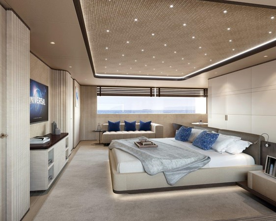 Master Stateroom - Contemporary Interior 2021 BENETTI Steel and Aluminum M/Y Motor Yacht 2617392