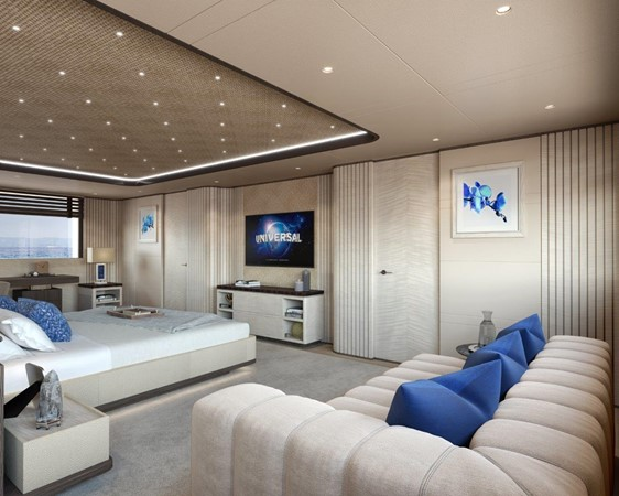 Master Stateroom - Contemporary Interior 2021 BENETTI Steel and Aluminum M/Y Motor Yacht 2617393