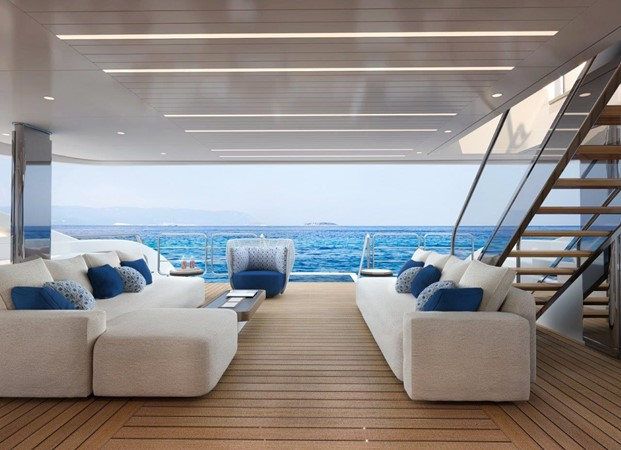 Main Deck Aft - Contemporary Interior 2021 BENETTI Steel and Aluminum M/Y Motor Yacht 2617397