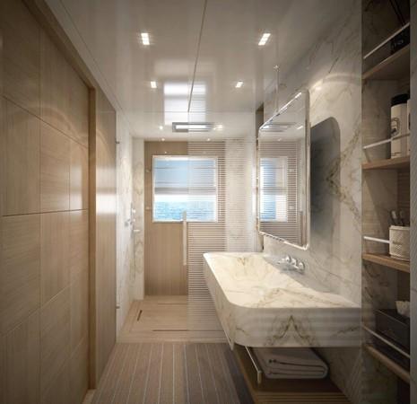 Master Bath - Classic Interior 2021 BENETTI Steel and Aluminum M/Y Motor Yacht 2617400