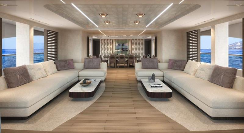 Main Salon - Modern Interior 2021 BENETTI Steel and Aluminum M/Y Motor Yacht 2617405