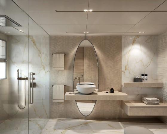 Master Bath - Modern Interior 2021 BENETTI Steel and Aluminum M/Y Motor Yacht 2617409