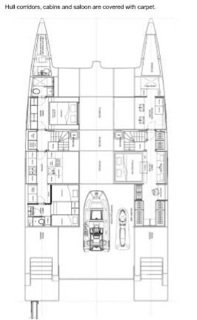 Interior Layout 2018 SUNREEF 68 Supreme Power Catamaran 2595681