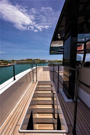 Stairs to Flybridge 2018 SUNREEF 68 Supreme Power Catamaran 2595749