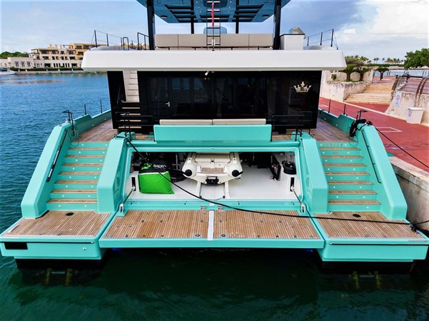 Swim Platform and Garage 2018 SUNREEF 68 Supreme Power Catamaran 2595780