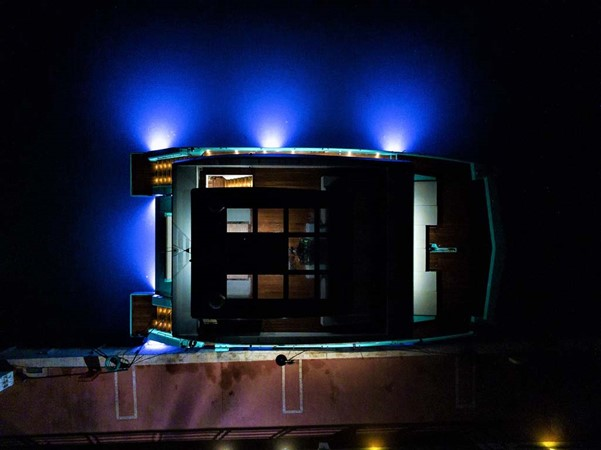 Night Lighting from above 2018 SUNREEF 68 Supreme Power Catamaran 2595802