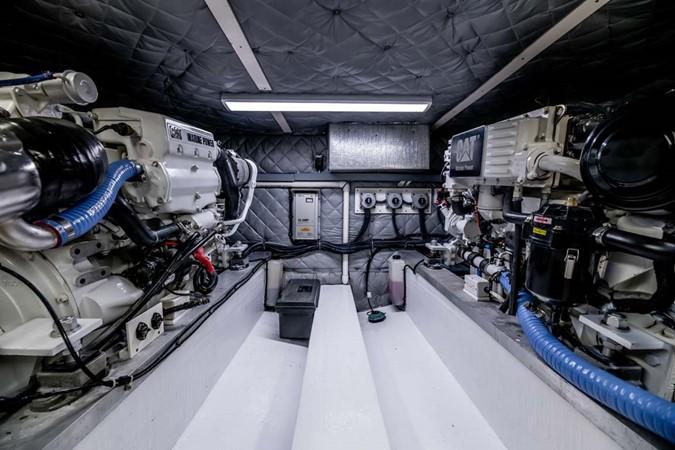 Engine Room forward 2007 CUSTOM Downeast Eastbay Style Cruiser 2597074