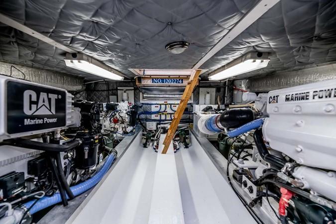 Engine Room aft 2007 CUSTOM Downeast Eastbay Style Cruiser 2597075