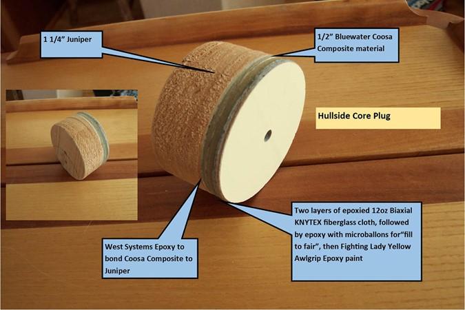 Core Plug - Hullside 2007 CUSTOM Downeast Eastbay Style Cruiser 2597088