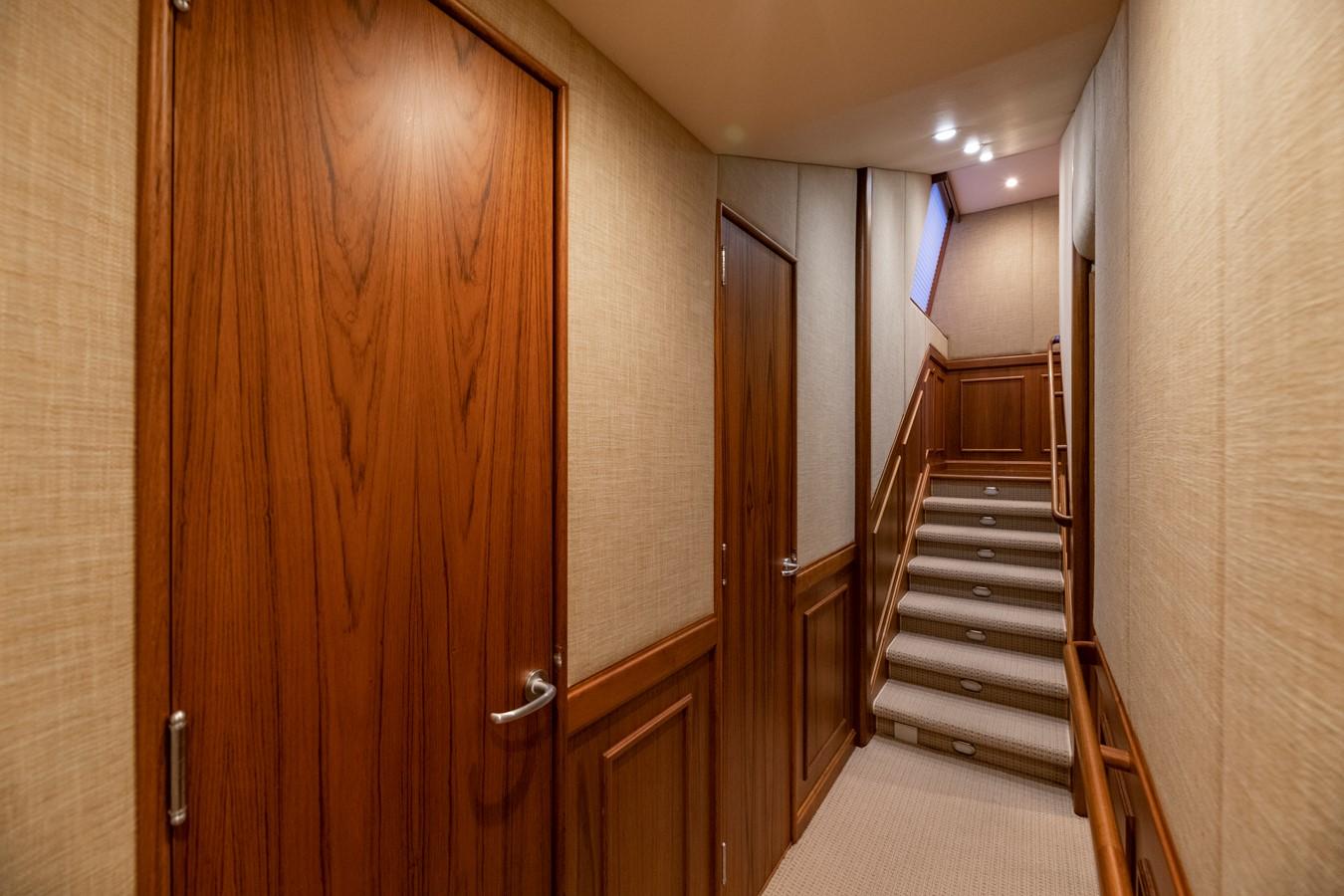 Companionway - looking aft 2011 MERRITT BOAT WORKS Enclosed Bridge  Sport Fisherman 2598721