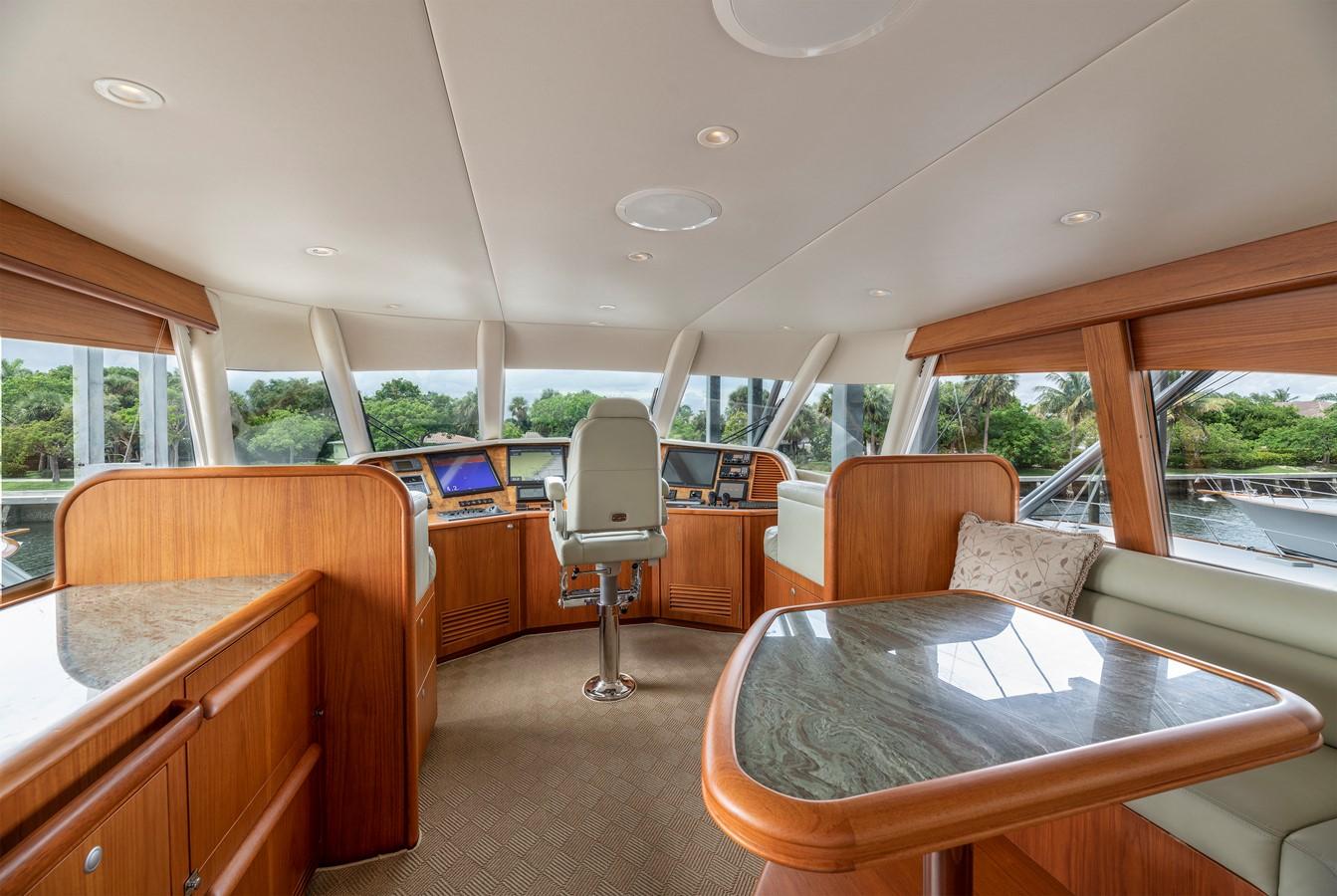 Enclosed Bridge Helm 2011 MERRITT BOAT WORKS Enclosed Bridge  Sport Fisherman 2598731