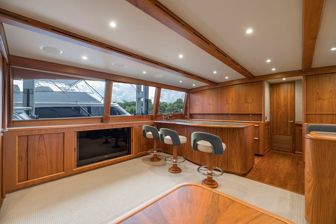 Salon - Entertainment Center to Port 2011 MERRITT BOAT WORKS Enclosed Bridge  Sport Fisherman 2598719
