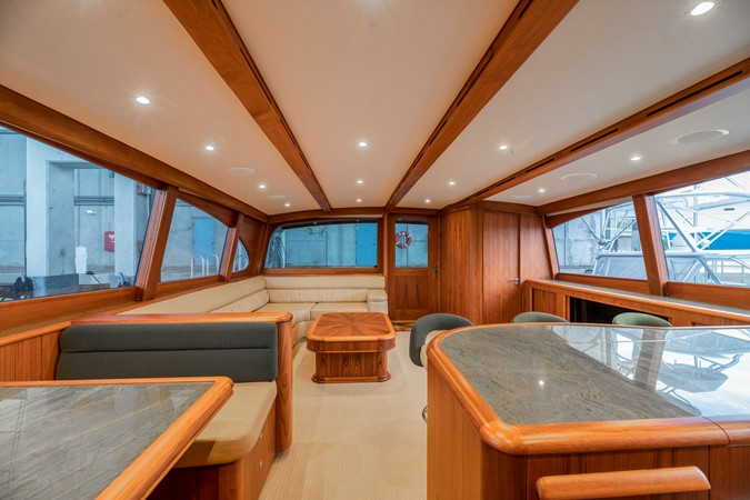 Salon - looking aft from Galley/Dinette 2011 MERRITT BOAT WORKS Enclosed Bridge  Sport Fisherman 2598720