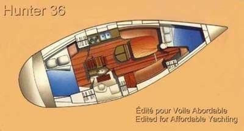 1993 HUNTER Vision 36 Cruising Sailboat 2599562
