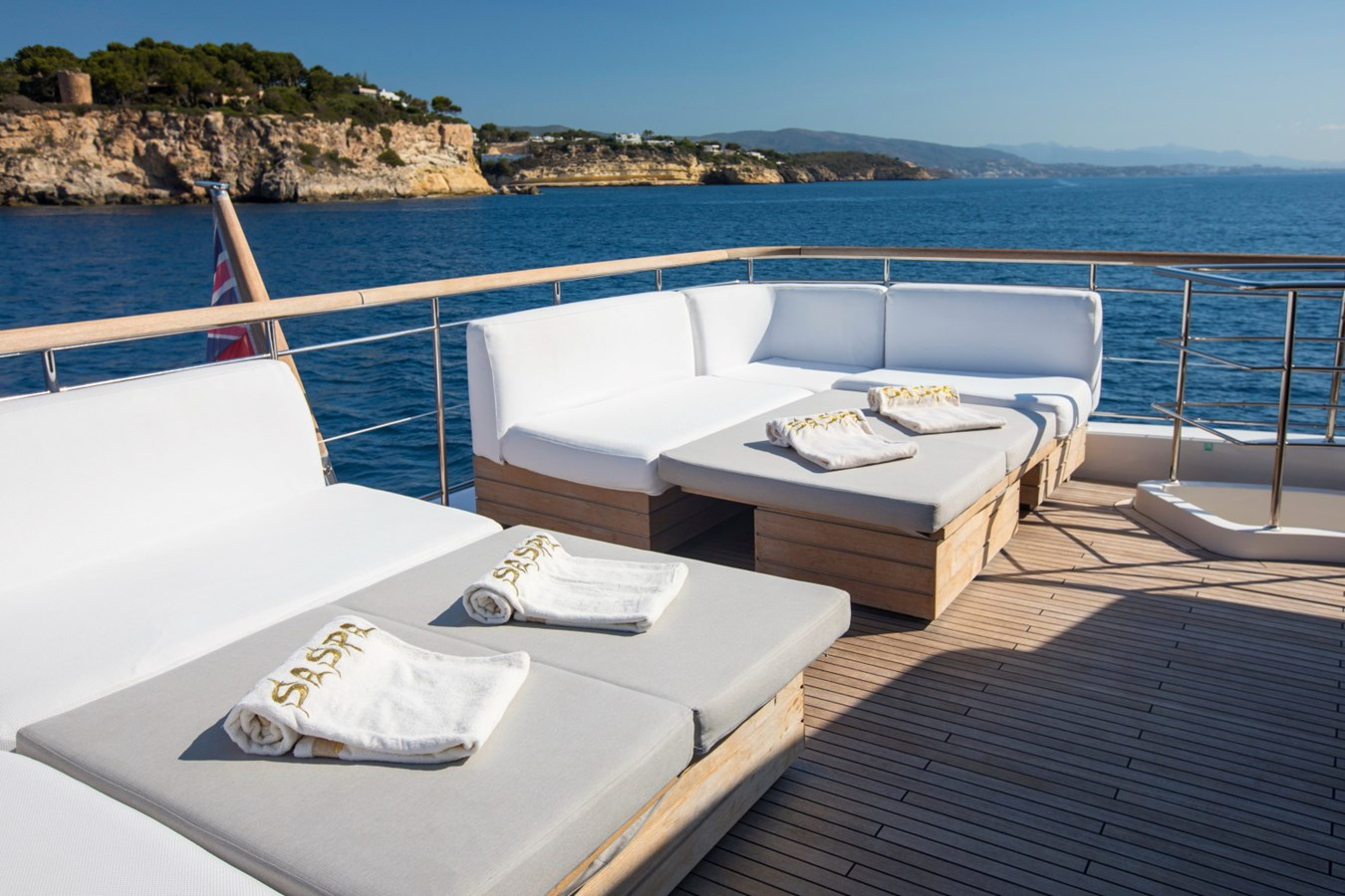 Flybridge seating and sunbathing 2010 SANLORENZO 92 SD Motor Yacht 2602772