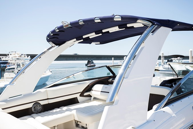 SS aluminum arch with sunshade 2016 COBALT R30 Deck Boat 2605407