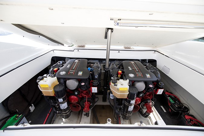 Engine room 2016 COBALT R30 Deck Boat 2610960