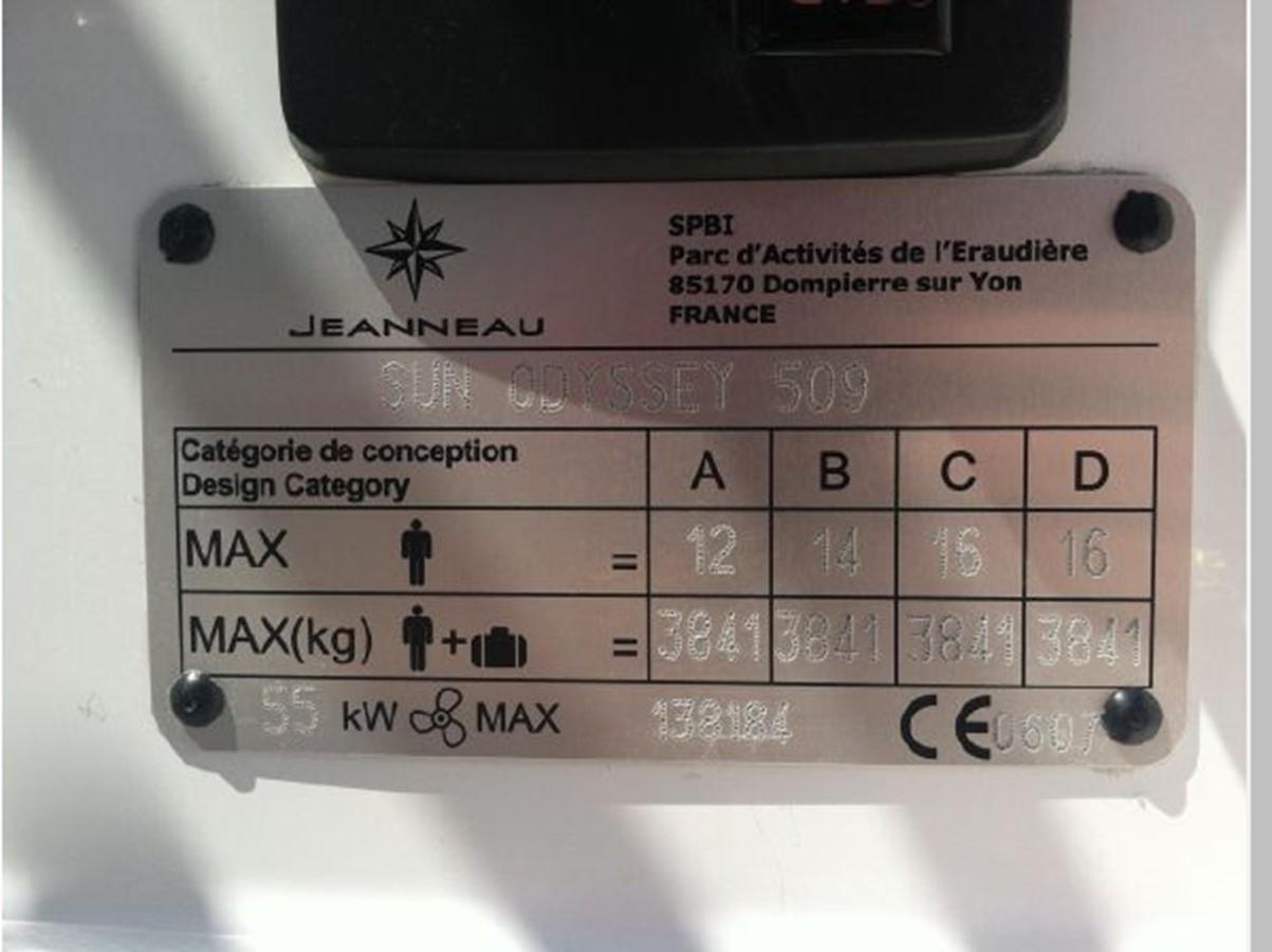 2019 JEANNEAU Sun Odyssey 519 Cruising Sailboat 2607027