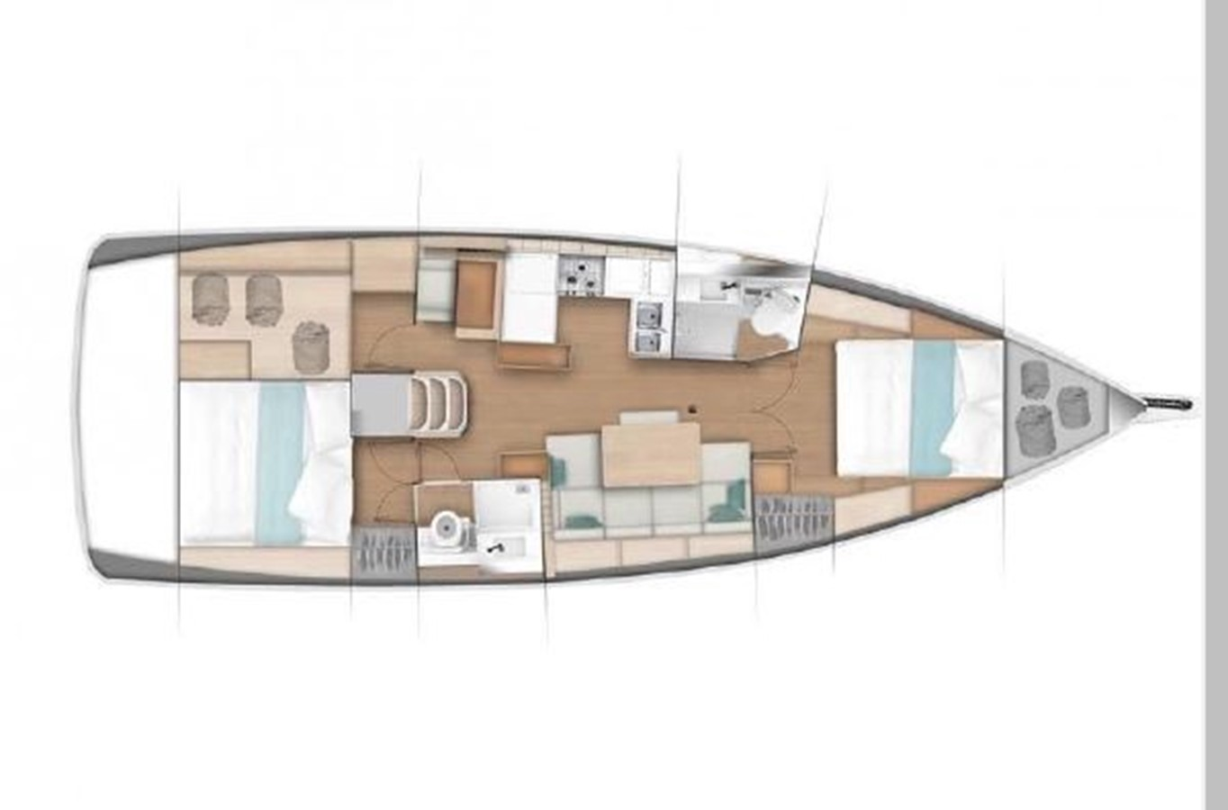2019 JEANNEAU Sun Odyssey 440 Cruising Sailboat 2607332